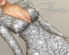 $ Sequin Silver Dress