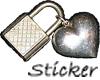 Padlock & Heart Sticker