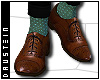 d| Brogues/Green Socks
