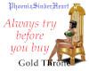 Cleopatra Gold Throne