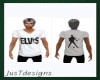 JT Elvis Tee White