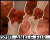 +KM+ Ankle Fur Copper