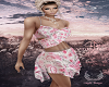 Summer Pink Rose Dress