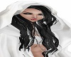 hoodie blk white hair