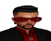 dark red sunglasses