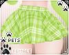 [Pets]Plaid skirt | Lime