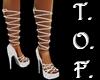 Rope Heel Sandals Silver
