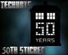 50TH Anniversary Sticker