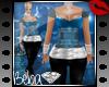 XXL Light Blue/Black Fit
