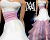 *White&Pink Tier Gown*