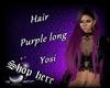 Hair Purple long Yosi