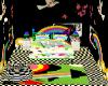 {W} Rainbow Retro Room