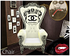 King Chair white silver