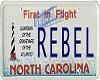 {v} Rebel Licence Plate