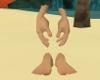 Giant hands feet