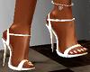 "White 5"" heels"