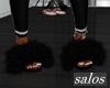 S | Fur slides black