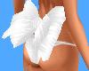 M* White back bow
