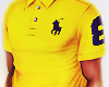 fit mesh polo yellow