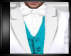 WHITE & TEAL SUIT