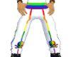 White rainbow sweats