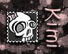 Girly Skull Stamp