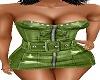 GREEN JEAN MINI DRESS