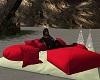 pillows romantic beach