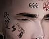 Face Tattoo 666
