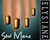 {E} Antique Gold Nails M