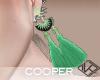 !A green long earrings