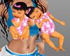 baby twins girl hold
