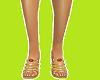 (A) gold godness shoes