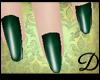 {D} Emerald Green Nails
