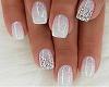 White Shiny Nails