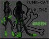 Punk-cat GREEN tail