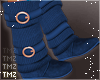Sweater Boots -Blue