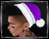 Purp Santa Hat Blk Hair