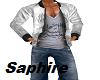 Arabic Gray Jacket&Shirt