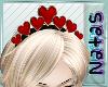 valentines tiara red