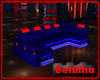 Blue Red Neon Sofa