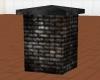 Dark brick corner