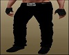 Black Jeans Pants Skull