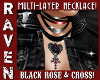 ROSE & CROSS NECKLACE!