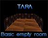 Wood empty room