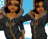 [LM] black hoodie/coat