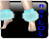 winter fur anklets teal