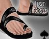 Cat~ Dark Roses Sandals