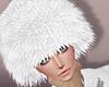 Suede White Fur Hat