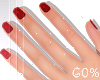 ! L! Kid H&Nails Red D